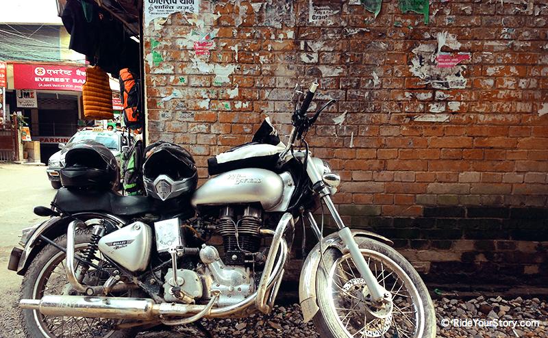 Royal Enfield first ride in Kathmandu