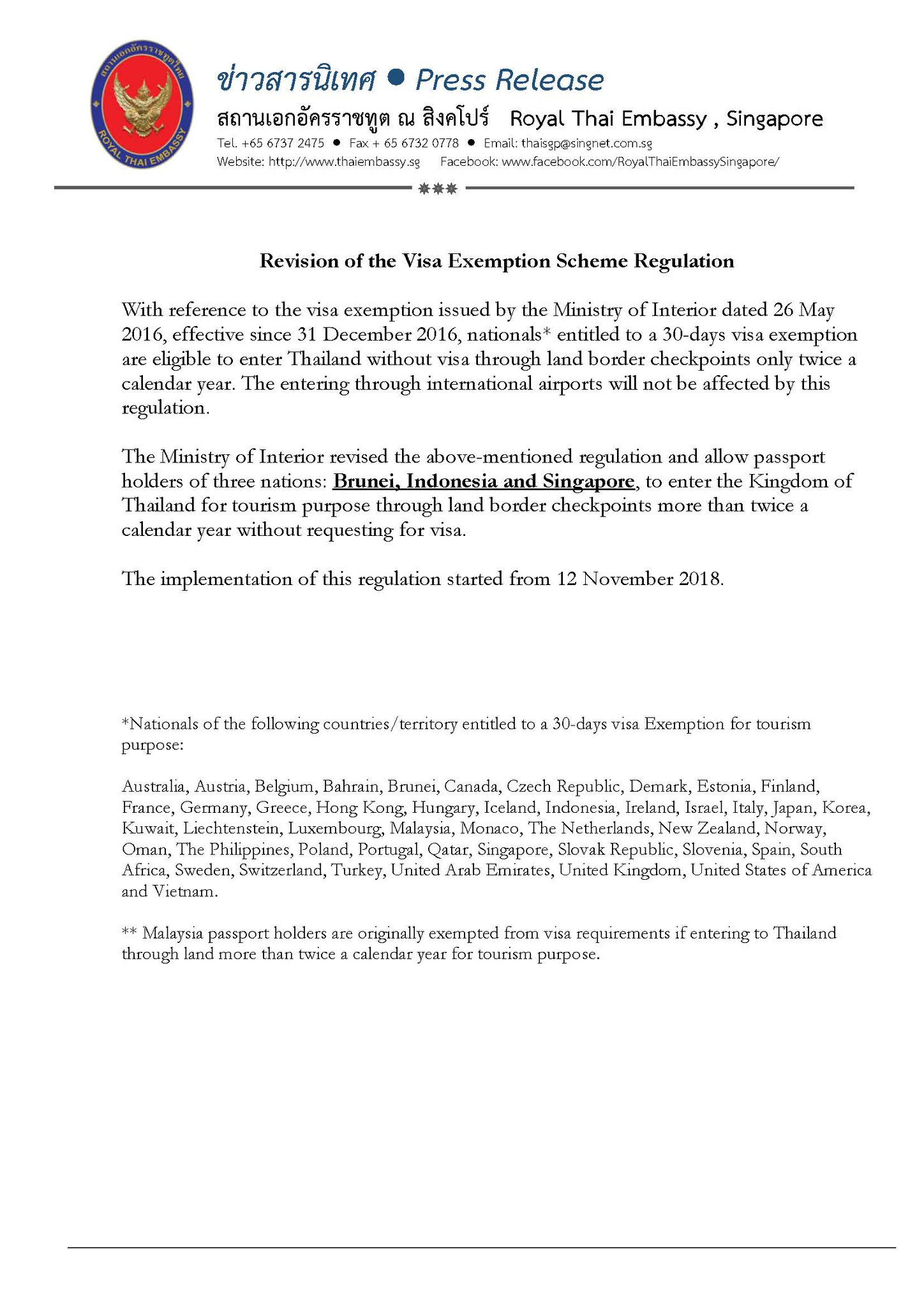 Steps To Visa Application At Royal Thai Embassy For Singapore Biker Rideyourstory